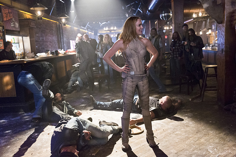 """DC's Legends of Tomorrow -- """"Pilot, Part 1"""" -- Image LGN101c_0249b -- Pictured: Caity Lotz as Sara Lance/White Canary -- Photo: Jeff Weddell/The CW -- © 2015 The CW Network, LLC. All Rights Reserved."""