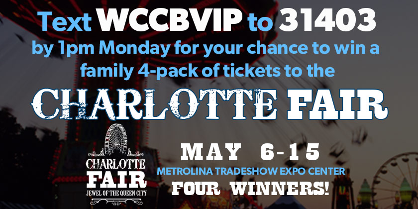 Win tickets to the Charlotte Fair