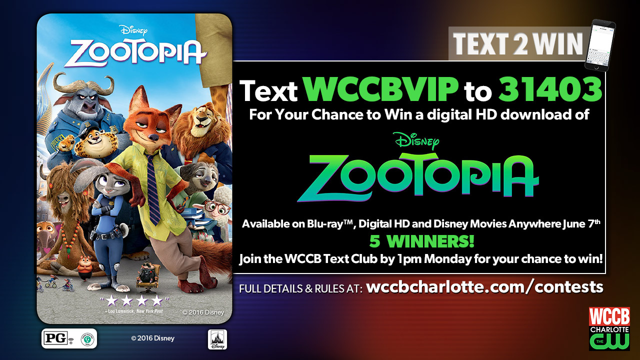 Text2Win A Zootopia Digital Download