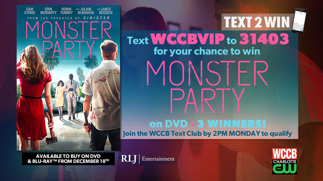 "Win ""Monster Party"" on DVD from WCCB Charlotte's CW"