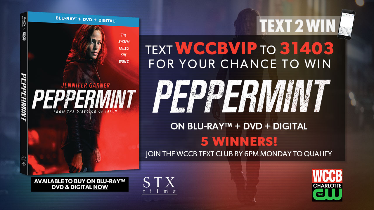 "Win ""Peppermint"" on Blu-ray and Digital from WCCB Charlotte's CW"