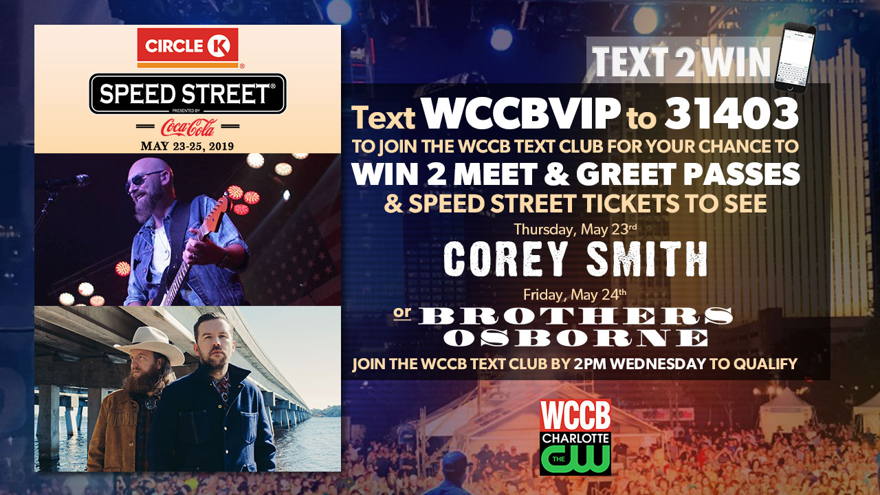 Win Speed Street and meet & greet passes from WCCB Charlotte's CW