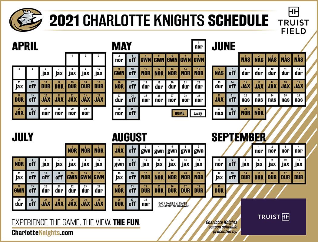 2021 Charlotte Knights Schedule Truist