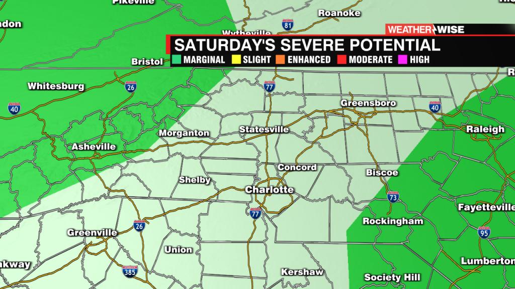Saturday's Severe Weather Risk